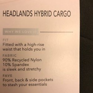 Athleta Pants - Athleta headlands hybrid cargo athletic pants.